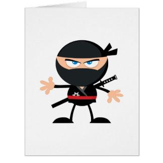 Cartoon Ninja Warrior Big Greeting Card