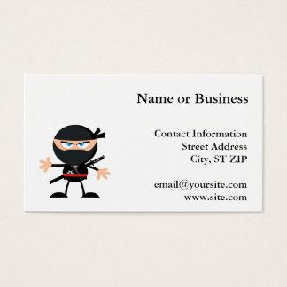 Cartoon Ninja Warrior Business Card