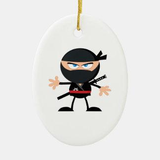 Cartoon Ninja Warrior Christmas Ornament