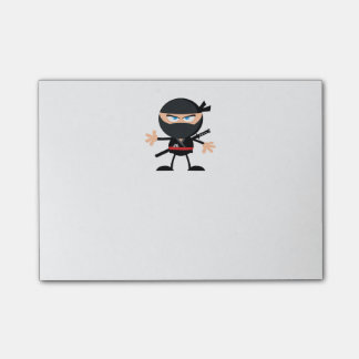 Cartoon Ninja Warrior Post-it Notes
