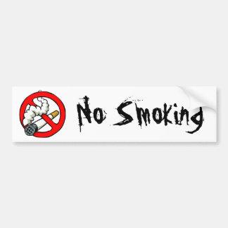 Cartoon No Smoking Sign Bumper Sticker