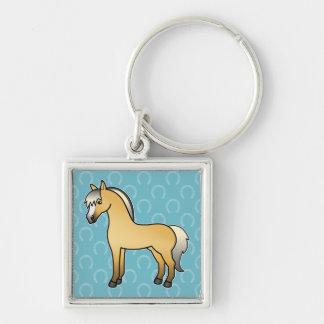Cartoon Norwegian Fjord Horse Key Ring
