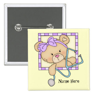 Cartoon Nurse Bear add name button