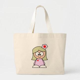Cartoon Nurse Jumbo Tote Bag