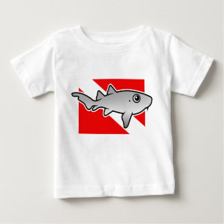 Cartoon Nurse Shark Dive Flag Baby T-Shirt