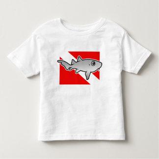 Cartoon Nurse Shark Dive Flag Toddler T-Shirt