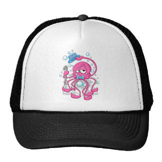 Cartoon Octopus Trucker Hats