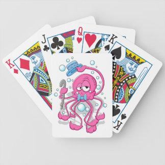 Cartoon Octopus Poker Deck