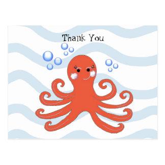 Cartoon Octopus Postcard