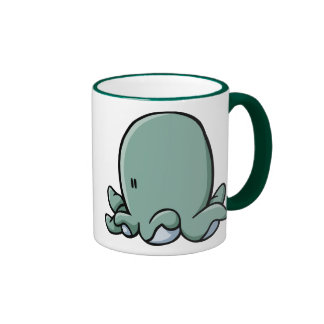 Cartoon Octopus Ringer Mug
