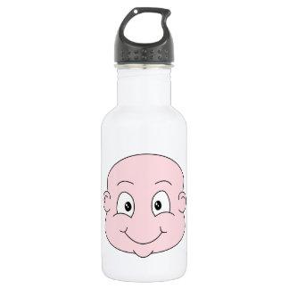 Cartoon of a cute baby, smiling. 532 ml water bottle