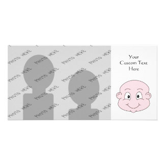 Cartoon of a cute baby, smiling. card