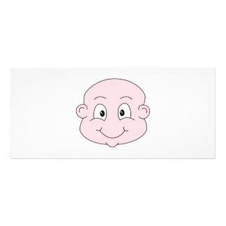 Cartoon of a cute baby, smiling. custom rack card