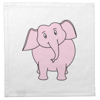 Cartoon of a Pink Elephant Napkin