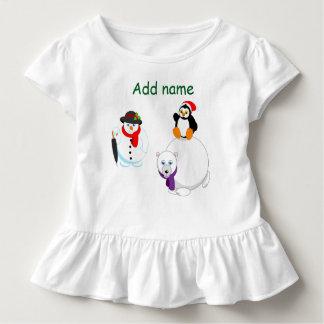 Cartoon of a Snowman, a penguin and a polar bear, Toddler T-Shirt