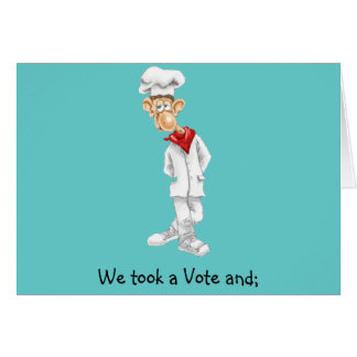 Cartoon of Chef with funny sayings Greeting Card
