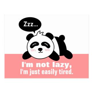 Cartoon of Cute and Lazy Panda Postcard