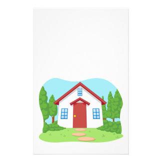 Cartoon of Cute Little House with Garden Flyers