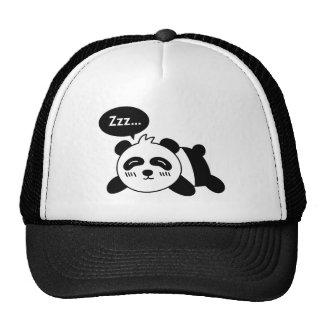 Cartoon of Cute Sleeping Panda Mesh Hats