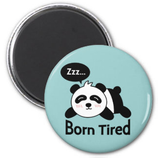 Cartoon of Cute Sleeping Panda Magnet