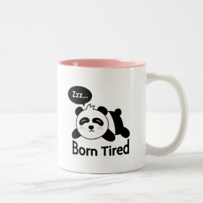 Cartoon of Cute Sleeping Panda Two-Tone Coffee Mug