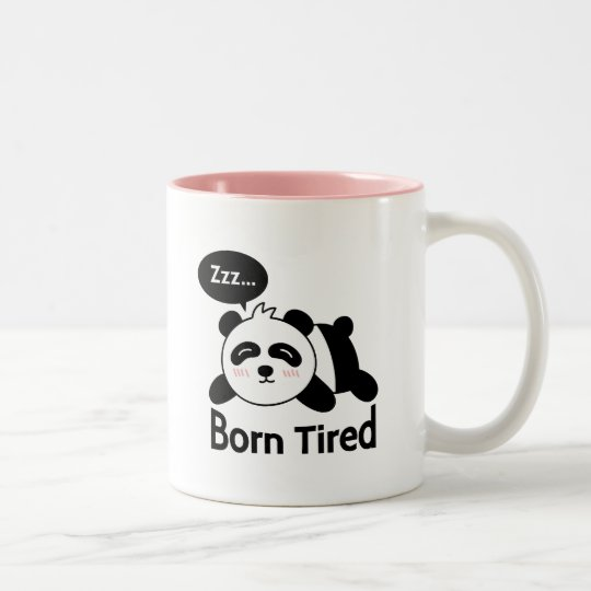 Cartoon of Cute Sleeping Panda Two-Tone Coffee Mug