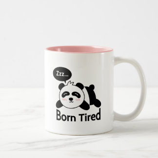 Cartoon of Cute Sleeping Panda Two-Tone Mug