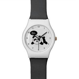 Cartoon of Cute Sleeping Panda Watch