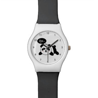 Cartoon of Cute Sleeping Panda Wrist Watch