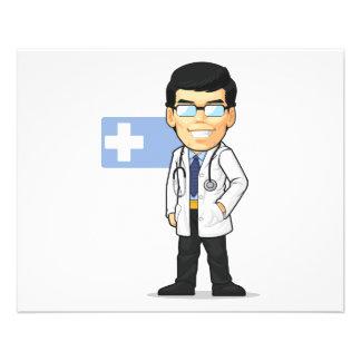 Cartoon of Doctor 11.5 Cm X 14 Cm Flyer