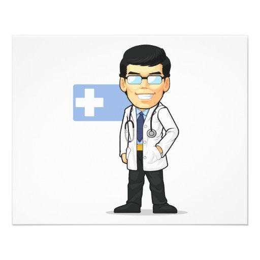 Cartoon of Doctor Full Color Flyer