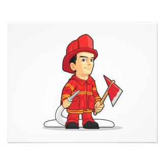 Cartoon of Firefighter Boy 11.5 Cm X 14 Cm Flyer