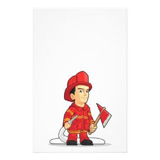 Cartoon of Firefighter Boy 14 Cm X 21.5 Cm Flyer
