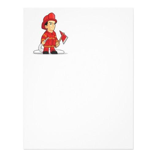 Cartoon of Firefighter Boy Flyer