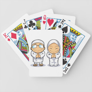 Cartoon of Muslim Man & Woman Card Decks