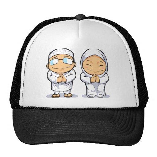 Cartoon of Muslim Man & Woman Hat