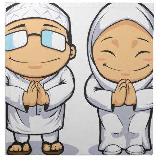 Cartoon of Muslim Man & Woman Napkins