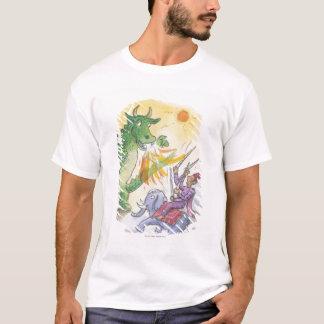 Cartoon of mythological fire breathing dragon T-Shirt