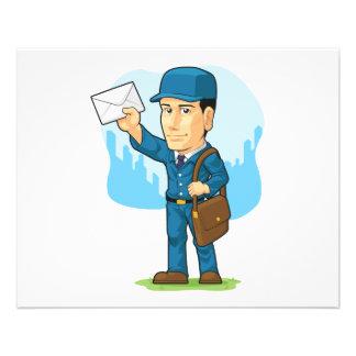 Cartoon of Postman or Mailman 11.5 Cm X 14 Cm Flyer
