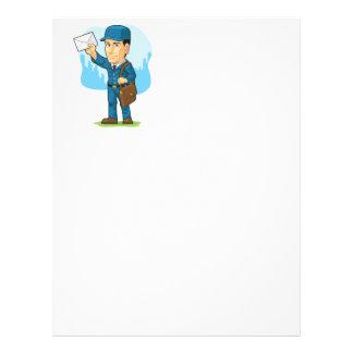 Cartoon of Postman or Mailman Custom Flyer
