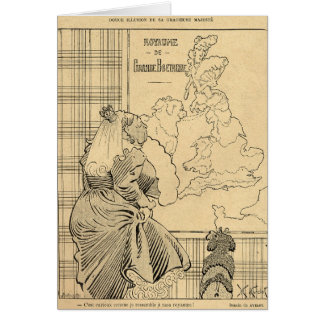 Cartoon of Queen Victoria from Le Rire Card