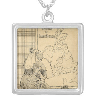 Cartoon of Queen Victoria from Le Rire Silver Plated Necklace