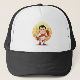 Cartoon of Superhero Trucker Hat