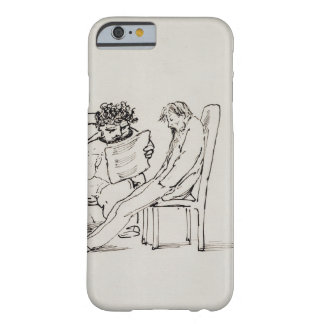 Cartoon of William Morris (1834-96) reading poetry Barely There iPhone 6 Case