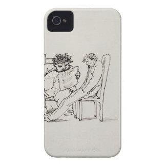 Cartoon of William Morris (1834-96) reading poetry iPhone 4 Case-Mate Case