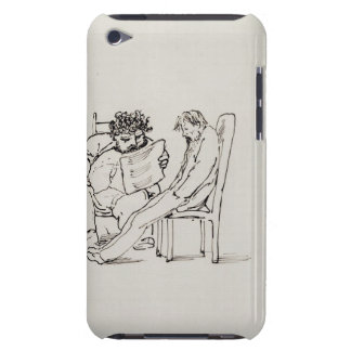 Cartoon of William Morris (1834-96) reading poetry iPod Touch Covers