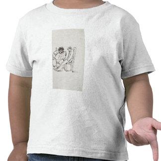 Cartoon of William Morris (1834-96) reading poetry Tee Shirts