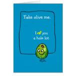 Cartoon Olive Love Greeting Card