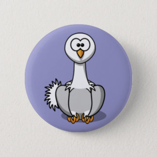 Cartoon Ostrich 6 Cm Round Badge
