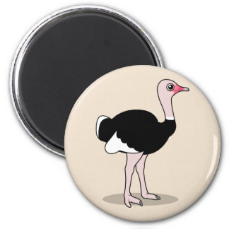 Cartoon Ostrich Magnet